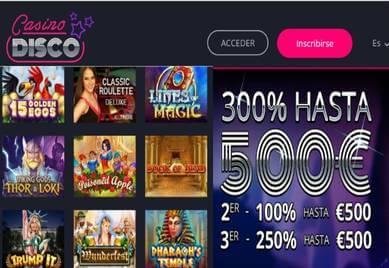 Ganar 500 euros en Casino Disco por los primeros tres depósitos