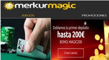 Merkurmagic entrega hasta 200 euros por primer depósito