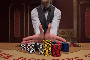 crupier de casino en vivo y apuestas con dinero real