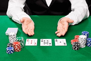 crupier de blackjack en directo en casinos en vivo